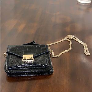 Handbags - Small black and gold cross body